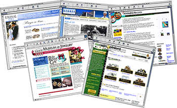 collage of web sites